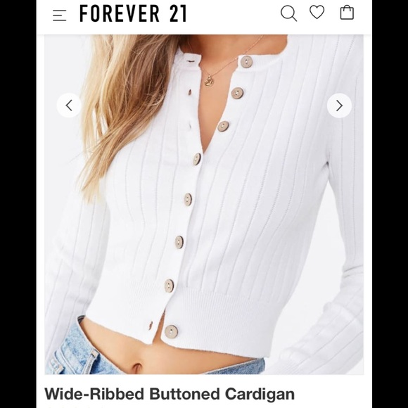 Forever 21 Sweaters - Sweater cardigan wide-ribbed button down🔥New🔥